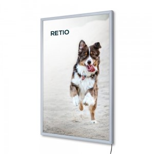 PLED Economy LED Illuminated Frame A1 (59,4 x 84,1 cm) Frame for Poster Photos Picture Snap Lighted Poster Frame High Quality