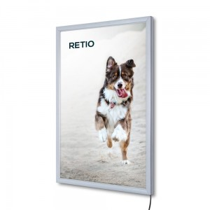 PLED Economy LED Illuminated Frame A2 (42,0 x 59,4 cm) Frame for Poster Photos Picture Snap Lighted Poster Frame High Quality