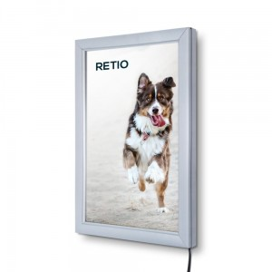 PLED Economy LED Illuminated Frame A4 (21,0 x 29,7 cm) Frame for Poster Photos Picture Snap Lighted Poster Frame High Quality