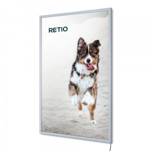 PLED Economy LED Illuminated Frame 70 x 100 cm Frame for Poster Photos Picture Snap Lighted Poster Frame High Quality