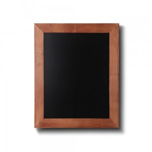 NATURE Chalkboard Light Brown 30 x 40 cm, Wooden Chalkboard with a Black Surface for Writing with Chalk Markers