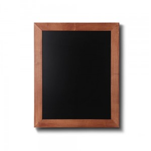 NATURE Chalkboard Light Brown 40 x 50 cm, Wooden Chalkboard with a Black Surface for Writing with Chalk Markers
