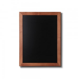 NATURE Chalkboard Light Brown 50 x 60 cm, Wooden Chalkboard with a Black Surface for Writing with Chalk Markers
