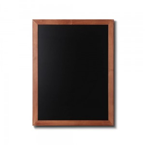 NATURE Chalkboard Light Brown 60 x 80 cm, Wooden Chalkboard with a Black Surface for Writing with Chalk Markers