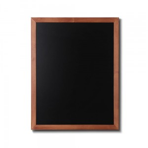 NATURE Chalkboard Light Brown 70 x 90 cm, Wooden Chalkboard with a Black Surface for Writing with Chalk Markers