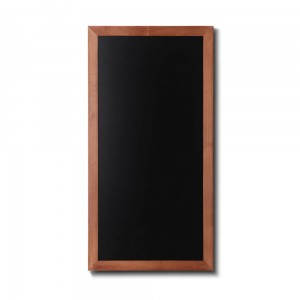 NATURE Chalkboard Light Brown 56 x 100 cm, Wooden Chalkboard with a Black Surface for Writing with Chalk Markers