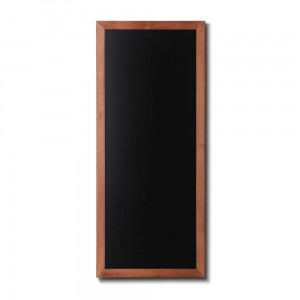 NATURE Chalkboard Light Brown 56 x 120 cm, Wooden Chalkboard with a Black Surface for Writing with Chalk Markers