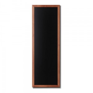 NATURE Chalkboard Light Brown 56 x 150 cm, Wooden Chalkboard with a Black Surface for Writing with Chalk Markers