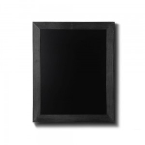 NATURE Chalkboard Black  30 x 40 cm, Wooden Chalkboard with a Black Surface for Writing with Chalk Markers