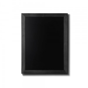 NATURE Chalkboard Black  50 x 60 cm, Wooden Chalkboard with a Black Surface for Writing with Chalk Markers