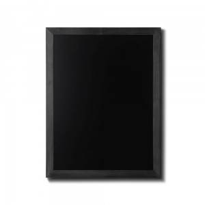 NATURE Chalkboard Black  60 x 80 cm, Wooden Chalkboard with a Black Surface for Writing with Chalk Markers