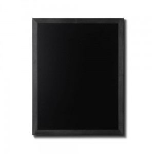 NATURE Chalkboard Black  70 x 90 cm, Wooden Chalkboard with a Black Surface for Writing with Chalk Markers