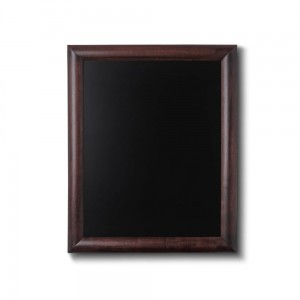 NATURE Chalkboard Dark Brown 40 x 50 cm, Wooden Chalkboard with a Black Surface for Writing with Chalk Markers