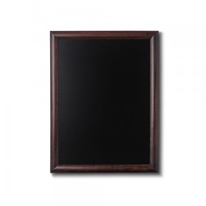 NATURE Chalkboard Dark Brown 50 x 60 cm, Wooden Chalkboard with a Black Surface for Writing with Chalk Markers