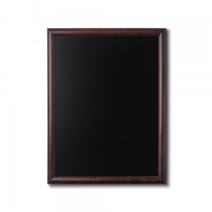 NATURE Chalkboard Dark Brown 60 x 80 cm, Wooden Chalkboard with a Black Surface for Writing with Chalk Markers