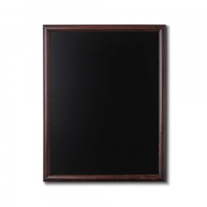 NATURE Chalkboard Dark Brown 70 x 90 cm, Wooden Chalkboard with a Black Surface for Writing with Chalk Markers