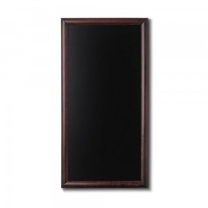 NATURE Chalkboard Dark Brown 56 x 100 cm, Wooden Chalkboard with a Black Surface for Writing with Chalk Markers