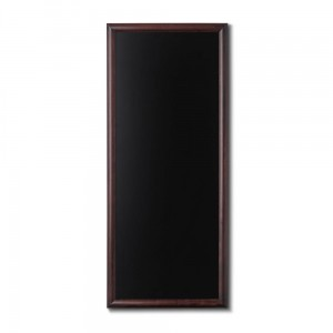 NATURE Chalkboard Dark Brown 56 x 120 cm, Wooden Chalkboard with a Black Surface for Writing with Chalk Markers