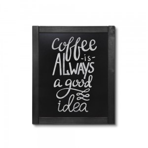 NATURE Classic Chalkboard  Black 50 x 60 cm, Wooden Chalkboard with a Black Surface for Writing with Chalk Markers