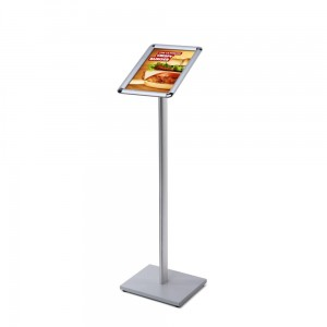 MBARD Menu Stand, A4 Frame Information Display Stand for Restaurant, Gastronomy, Hotel, Poster Stand, Menu Board with Rounded Corners