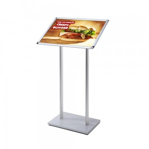 MBARD Menu Stand, A2 Frame Information Display Stand for Restaurant, Gastronomy, Hotel, Poster Stand, Menu Board with Rounded Corners