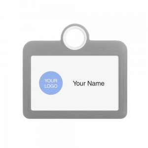 Colourful Badge on a Lanyard Grey 85 x 54 mm ID Badge Holder Plate Name Badge Pendant Silicone Badge Holder 8.5 x 5.5 cm