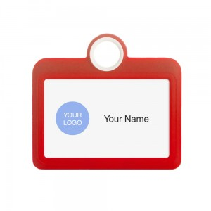 Colourful Badge on a Lanyard Red 85 x 54 mm ID Badge Holder Plate Name Badge Pendant Silicone Badge Holder 8.5 x 5.5 cm