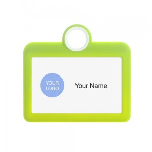 Colourful Badge on a Lanyard Yellow 85 x 54 mm ID Badge Holder Plate Name Badge Pendant Silicone Badge Holder 8.5 x 5.5 cm