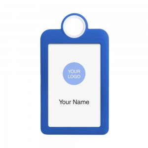 Colourful Badge on a Lanyard Blue 54 x 85 mm ID Badge Holder Plate Name Badge Pendant Silicone Badge Holder 5.4 x 8.5 cm