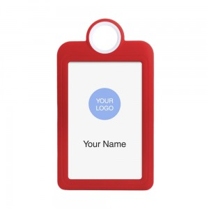 Colourful Badge on a Lanyard Red 54 x 85 mm ID Badge Holder Plate Name Badge Pendant Silicone Badge Holder 5.4 x 8.5 cm