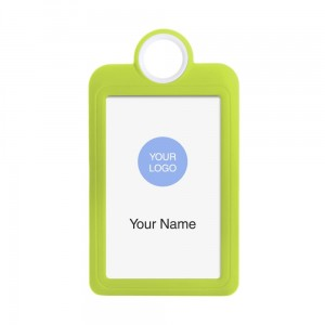 Colourful Badge on a Lanyard Yellow 54 x 85 mm ID Badge Holder Plate Name Badge Pendant Silicone Badge Holder 5.4 x 8.5 cm