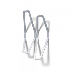 DESIGN Wall Hanger 26 cm Double, Gray Wall-Mounted Clothes Hanger, Office Hanger, Hanger for Wall Mounting