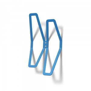 DESIGN Wall Hanger 26 cm Double, Blue Wall-Mounted Clothes Hanger, Office Hanger, Hanger for Wall Mounting