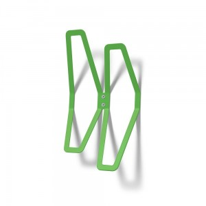 DESIGN Wall Hanger 26 cm Double, Green Wall-Mounted Clothes Hanger, Office Hanger, Hanger for Wall Mounting