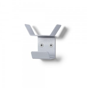 MINI Wall Hanger 6cm Triple Gray Wall Mounted Clothes Hanger Office Hanger Wall Mount Hanger