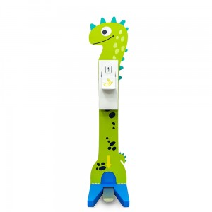 Hand Sanitizer Station for Children - a Coloured Foot Disinfectant Dispenser With a Dinosaur Pattern Stand