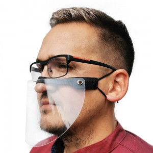Protective Half Shield Protective Nose and Mouth Shield Mini Shield Clear Plastic Nose and Mouth Cover Face Shield