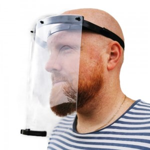 Protective Face Shield Transparent Plastic Full Face Shield