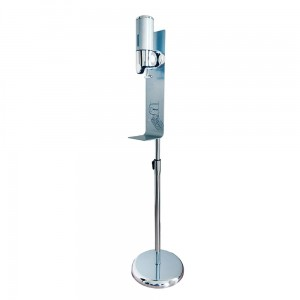 Hand Sanitizer Station - Manual Gel Dispenser  +  Stand With Anti-Drip Tray and Adjustable Height