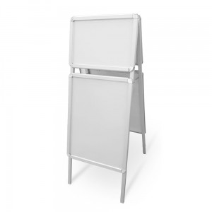 Advertising A-Board 54 x 147 cm Advertising Stand with Four Snap Frames for Poster