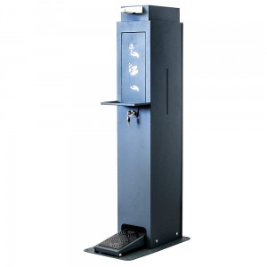 Hand Sanitizer Station - Foot-Operated Sanitizer Dispenser with Space for a 5L Tank  With a Stand and an Anti-Drip Tray