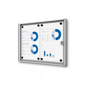 XS 2xA4 Magnetic Display Cabinet 44X31 cm Closed with a Key for Internal Use,  Internal Display, Advertising Display, Information Display, Notice Board