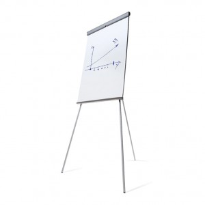 SCRITTO® Standard Magnetic Flipchart 68 x 100 cm, Stand with Magnetic Dry-wipe Board, Mobile Flipchart, Stand with Writing Board with Adjustable Legs and Adjustable Height