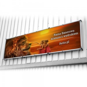 Wall Banner Frame 1250x1250 mm with a Print
