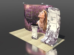 Lavenda Advertising Set - Wall + Stand + Stand + Lighting