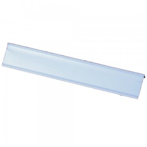 Price Holder Strip, 60x1000 mm Self-Adhesive PVC Price Strip, 15-degree Angle